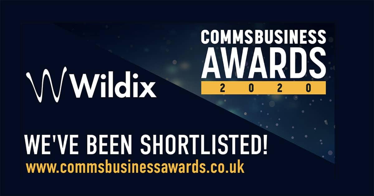 Comms Business Awards 2020 Wildix Finalists
